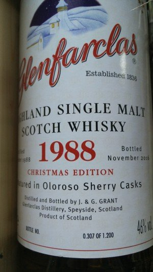 Glenfarclas Vintage 1988 Christmas Single Malt